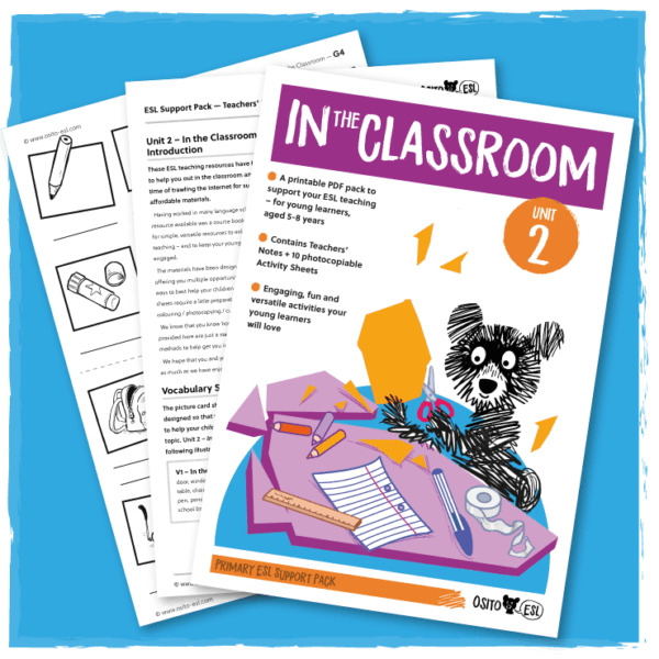 Osito ESL Activity Sheets - In the Classroom - Cover