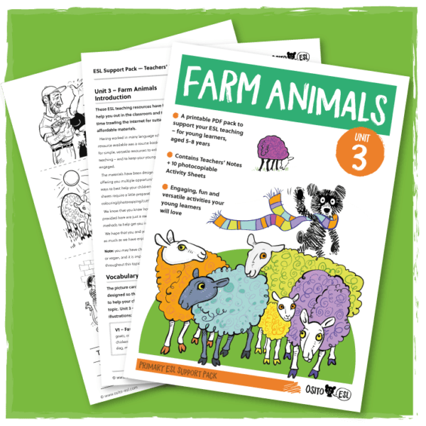 ESL Activity Sheets – Farm Animals