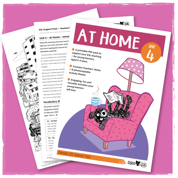 ESL Activity Sheets - At Home