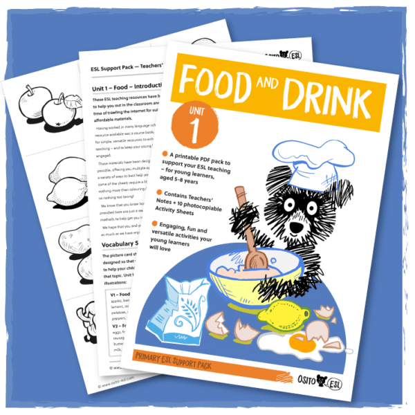 Osito ESL Activity Sheets - Food - Cover