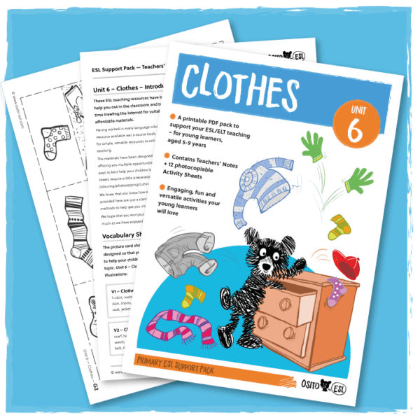 ESL Activity Sheets - Clothes
