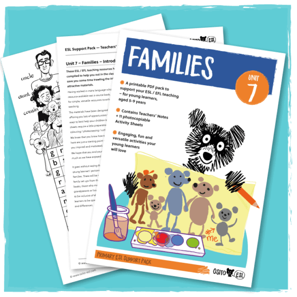 ESL Activity Sheets - Families